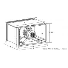 Вентилятор канальный KORF WNP 40-20/18-2D