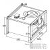 Вентилятор канальный прямоугольный KORF WRW 50-25/22-4E