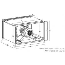 Вентилятор канальный KORF WNP 50-30/22-2D