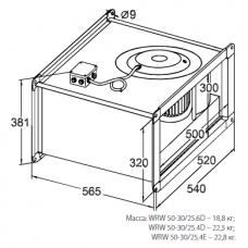 Вентилятор канальный KORF WRW 50-30/25-6D
