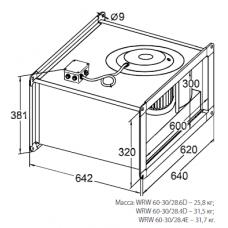 Вентилятор канальный KORF WRW 60-30/28-6D