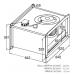 Вентилятор канальный прямоугольный KORF WRW 60-30/28-6D