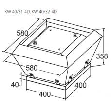 Вентилятор крышный KORF KW 40/31-4D