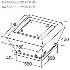 Вентилятор крышный KORF KW 56/35-4D